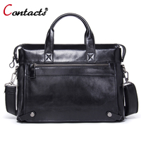 Contact S Messenger Bag Men S Genuine Leather Crossbody Bag Big Shoulder Bag Famous Brand Men