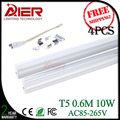 600mm 2ft led tube t5, 10Watt AC85-265V, 4 pieces free shipping by fedex!
