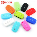 Silicone car key cover For Volkswagen VW polo passat b5 b6 golf 4 5 6 jetta mk6 tiguan Golf CrossFox Plus Eos Scirocco
