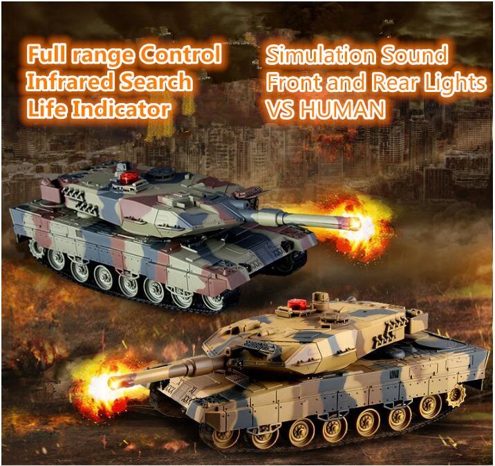Panthers allemands bataille RC réservoir HQ-516 IIA6 38 CM simulation son VS humain récréatif infrarouge télécommande main bataille jouet