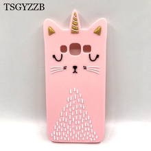 For Samsung Galaxy J7 J5 J2 Prime Case Silicon Cover 3D Cute Pink Cat Slim Cases For Samsung J1 2016 J5 Pro J3 2017 Case Coque все цены