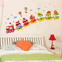 Can remove the wall stickers Colorful flowers Creative small pure and fresh The kindergarten children room play