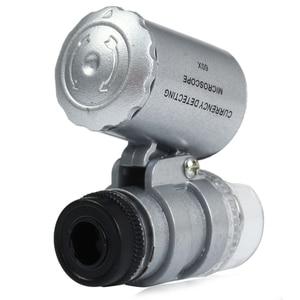 Image 4 - ミニ 60x ハンドヘルド顕微鏡ルーペ通貨検出 led と UV ライト