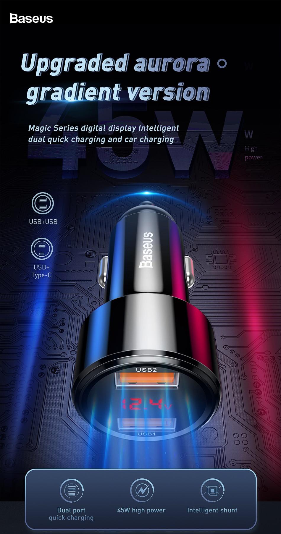Le Jeune moderne.Auto & moto-Chargeur voiture USB 45W Quick Charge 3 & 4 sous USB-C-Chargeur USB pour voiture de 45W. Quick Charge 3 et 4. prise en charge de la charge 4.0 uniquement avec prise USB-C. Petit, discret et équipé d'un circuit de haute technologie de régulation de tension, ce chargeur n'est pas prêt de vous lâcher.