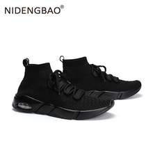 Men Running Shoes Mesh Sneakers Breathable Outdoor Sport Shoes Lace up Sock Shoe Male Super Light Sock Trainers Big Size 39-46 цена и фото
