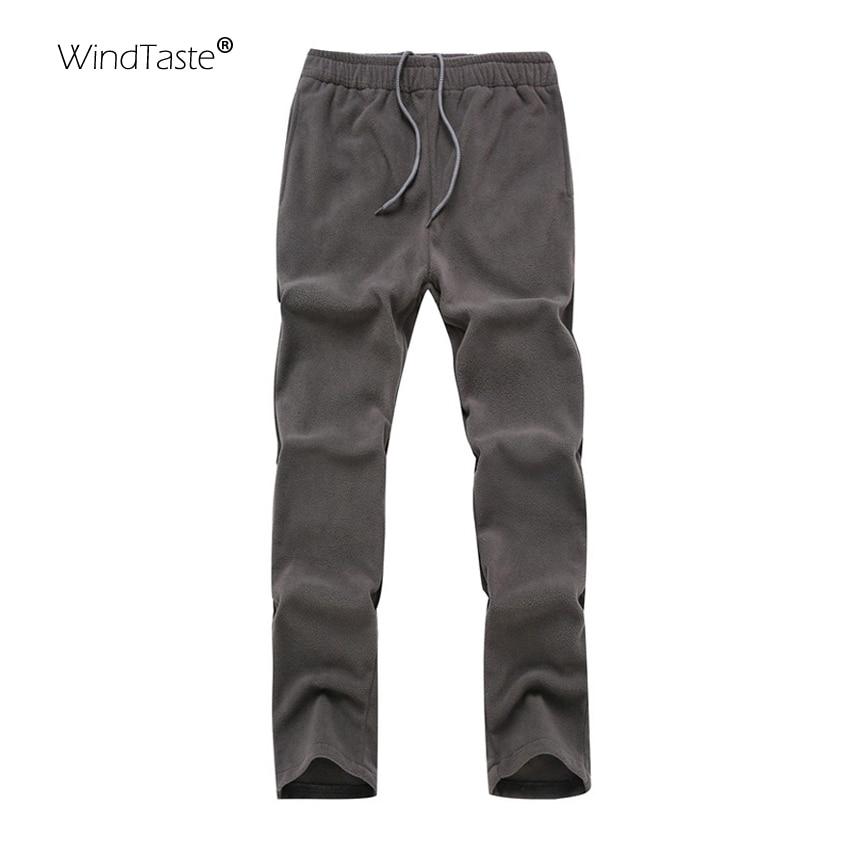 WindTaste Women Autumn Softshell Fleece Outdoor Camping Pants Hiking Trekking Climbing Warm Sports Trousers For Men Female KA016
