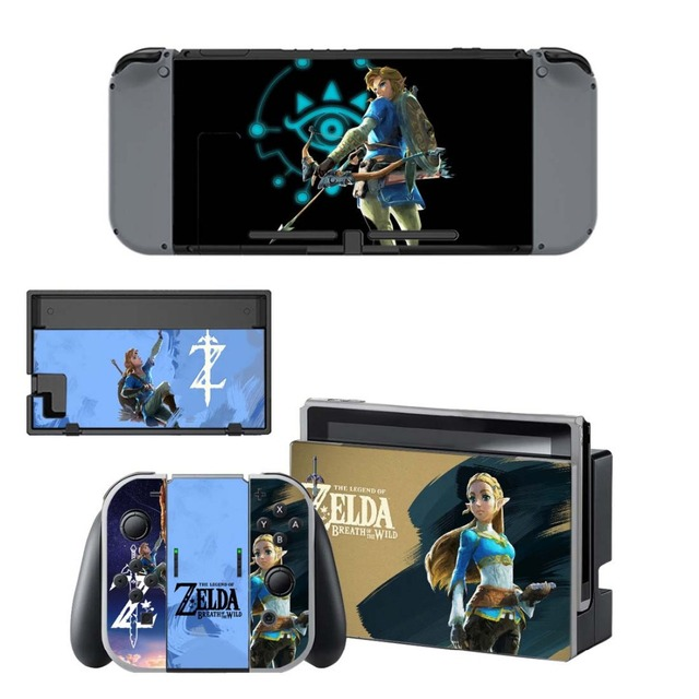 NS Game Skin Nintend Switch Console Sticker Vinyl Decal Skins Kit for Nintendo Switch Console and Controller 1