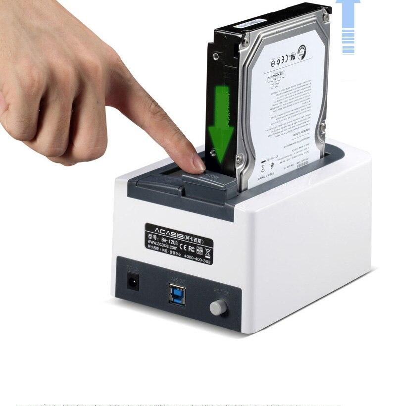 ACASIS BA-12US USB 3.0 SATA3 disque dur Station d'accueil pour 2.5 pouces ou 3.5 pouces HDD boîtier de clonage duplicateur - 4