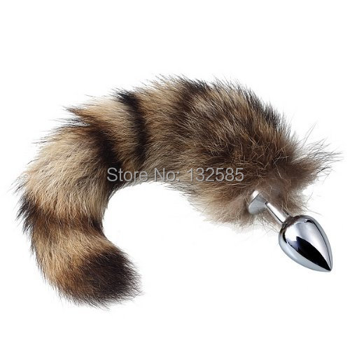 361d89755 Free Shipping Sexy Fox Racoon Tail Anal Plug Sex Toys Metal Anal Butt Plug  Tail Small Size