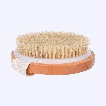 TREESMILE Natural bristles Bath brush Body Maasage No Handle Bath Brush Body Exfoliating SPA Hot Dry Skin Body Wooden Dry Brush 2
