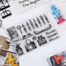 1 шт прозрачный силиконовый очистить резиновый штамп лист цепляется Скрапбукинг DIY подарок