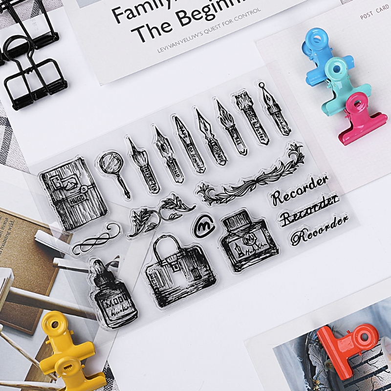 1PC Transparent Silicone Clear Rubber Stamp Sheet Cling Scrapbooking DIY Gift