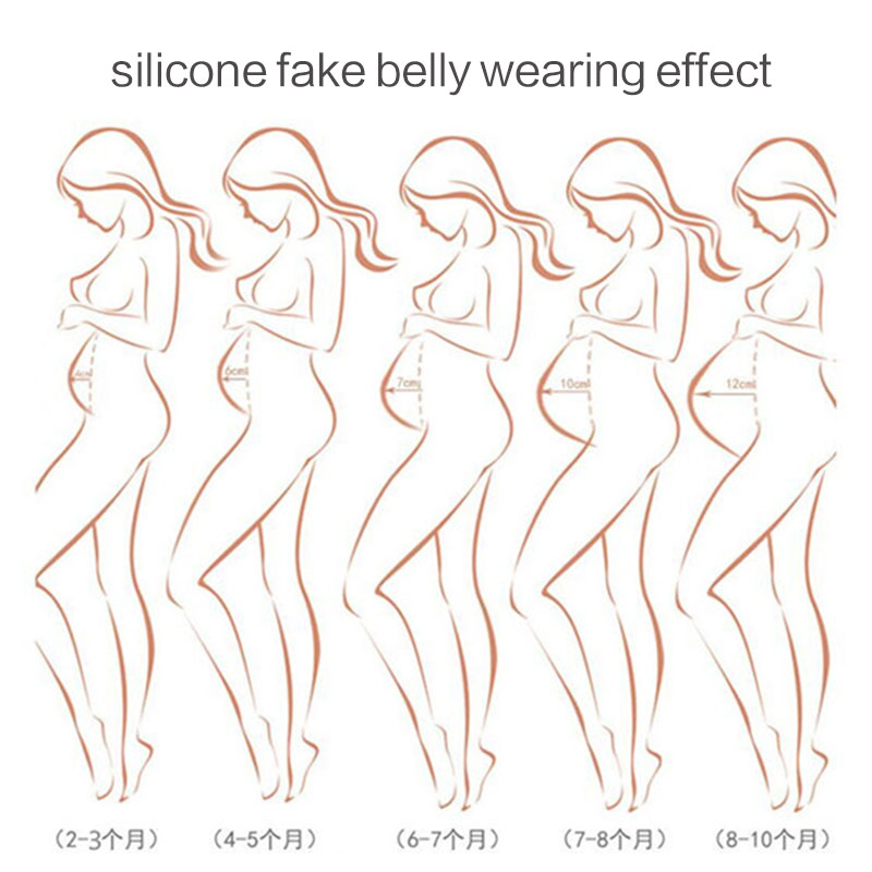 Fake Pregnant Belly Silicone Artificial Belly for Cross Dressing Actor Model Women Jelly Belly 1000-1500g/pc