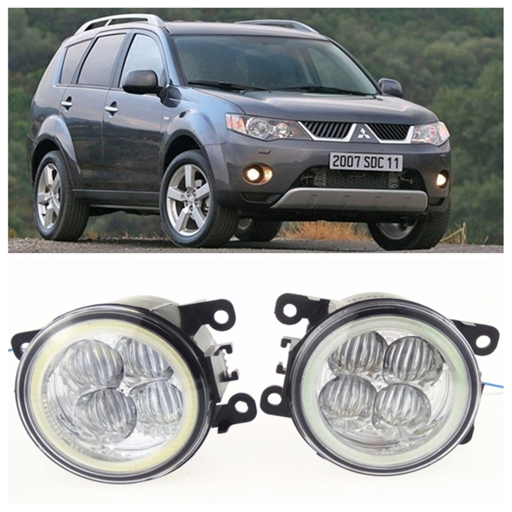 For Mitsubishi OUTLANDER II CW_W  2006-2009 10W high brightness LED Angel eyes fog lights Car styling fog lamps seintex 00560 для mitsubishi outlander ii 2006 2012