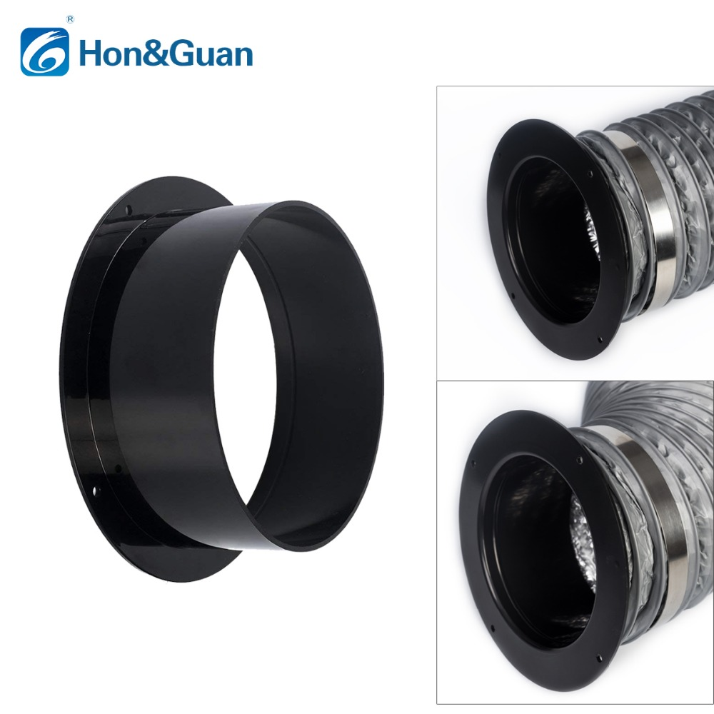Hon&guan 4~6 Inch Abs High Quality Straight Pipe Flange Ventilation Ducting Connector; 100mm/125mm/150mm To Ensure Smooth Transmission Air Conditioner Parts