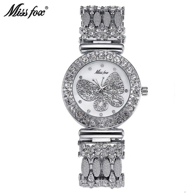 Miss Fox Luxury Dress Brand Watch Women Ladies Gold Diamond Relogio Feminino Dress Clock Female Relojes Mujer Hodinky Ceasuri