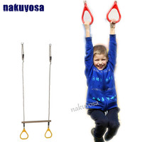 Outdoor Indoor Kids Flying Gym Rings Swing Pull Up Playground 2 in 1 Swing Set Toy Sports Equipment For Children Games best gift