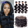 7A Ear to Ear Lace Frontal Closure With Bundles iwish Brazilian Body Wave With Closure Brazilian Body Wave 13x4 With 3 Bundles