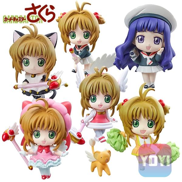 цены на Anime Card Captor Sakura Mini Figures Kinomoto Sakura Daidouji Tomoyo PVC Action Figures Toys Cardcaptor 1pc send in random в интернет-магазинах