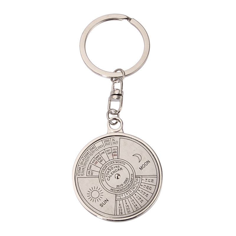 ZJL60913052_2016091310171997  50 years perpetual Calendar Keyring Distinctive Compass Metallic KeyChain Reward Security & Survival Z0528 HTB16wiyt7KWBuNjy1zjq6AOypXae