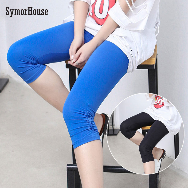 Good Quality Extra Large Size Women Pants capris Super Stretch Summer Candy Color Female Elastic   Legging   Mid-Calf Trousers 6XL