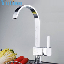 FREE SHIPPING Brass Chrome Taps For Kitchen Sink Kitchen Tap Dual Hole Wall Kitchen Mixer Kitchen Faucet torneira cozinha YT6018