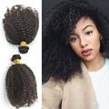 Brasileño de la virgen del pelo 1 bundle brasileño 4b / 4c rizado rizado cabello humano brasileño teje AAAAAAAA pelo brasileño rizado Afro rizado