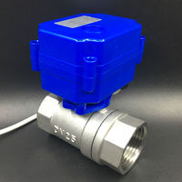 DC12V 2 Way SS304 BSP 1 Electric Water Valve DN25 Actuated Valve 2 Wires Fast Open
