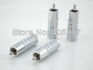 Image 2 - 4 pcsx RCA Rhodium Cắm 8 mét Cáp Âm Phono Đồng Connector HiFi