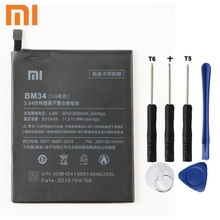 Xiao Mi Xiaomi Mi BM34 Phone Battery For Xiao mi Note Pro BM34 3090mAh Original Replacement Battery + Tool