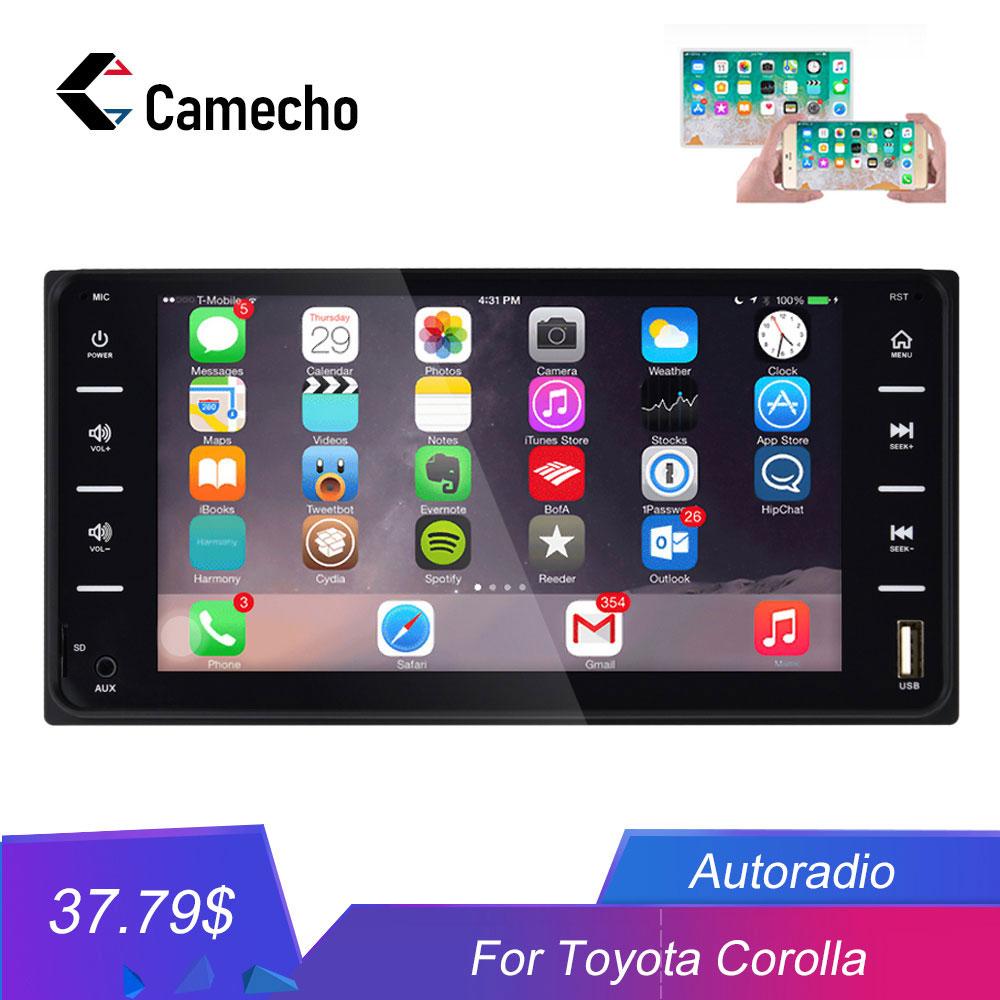 Camecho 2Din Autoradio Universal Car Multimedia player 7 Car Radio Mirror link Bluetooth Audio Radio Stereo