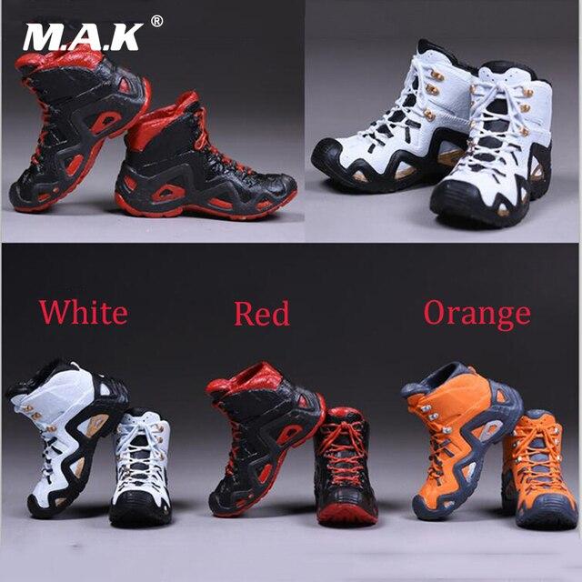 b8ee17cb9b 1 6 escala hombre escalada senderismo botas Zapatos modelos para 12  pulgadas figuras masculinas órganos