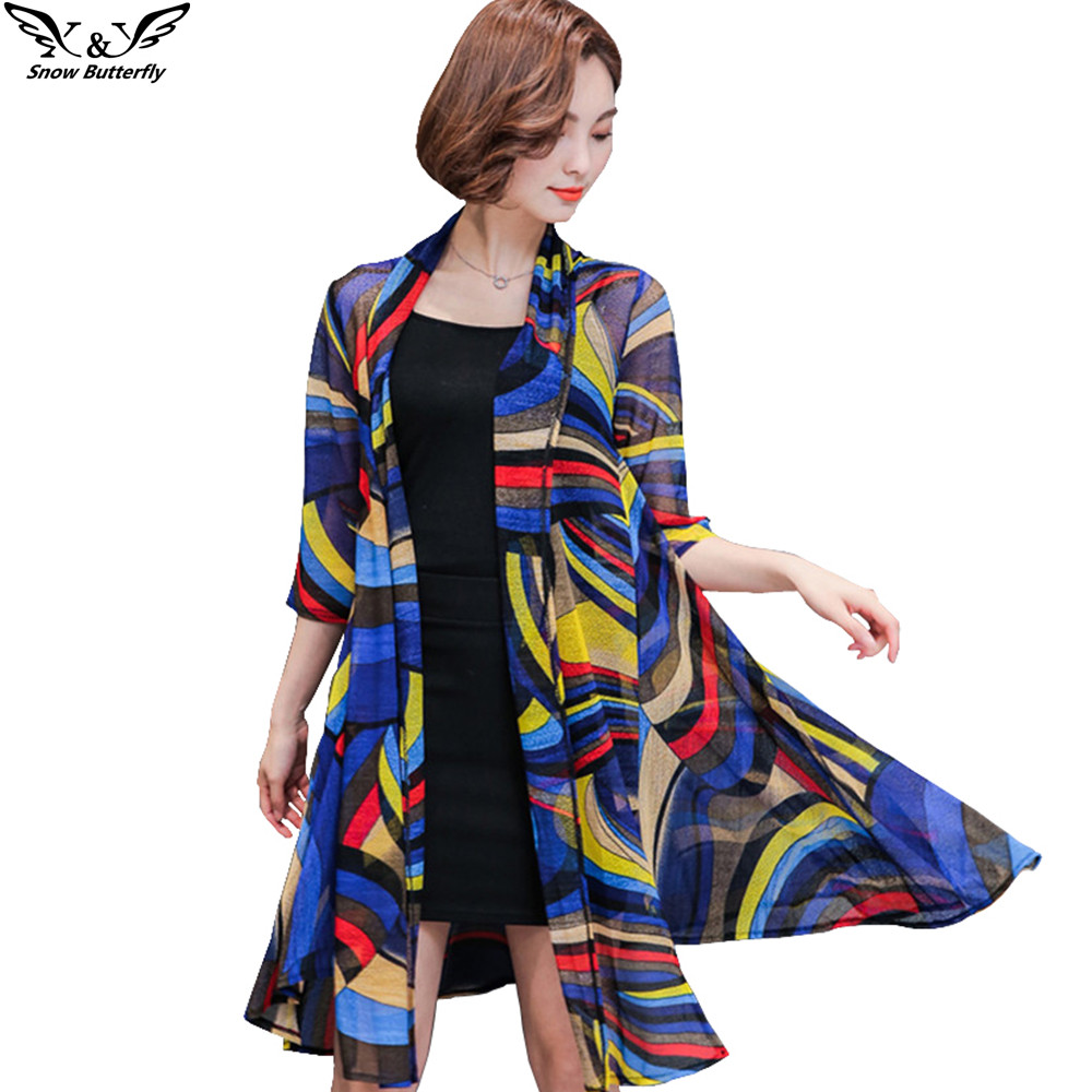 2017 High Quality Summer Kimono Cardigan Women Tops