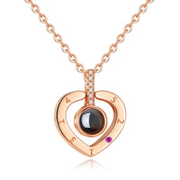 TIFF S925 sterling silver necklace, I love you 520 necklace wild simple personality temperament ladies jewelry