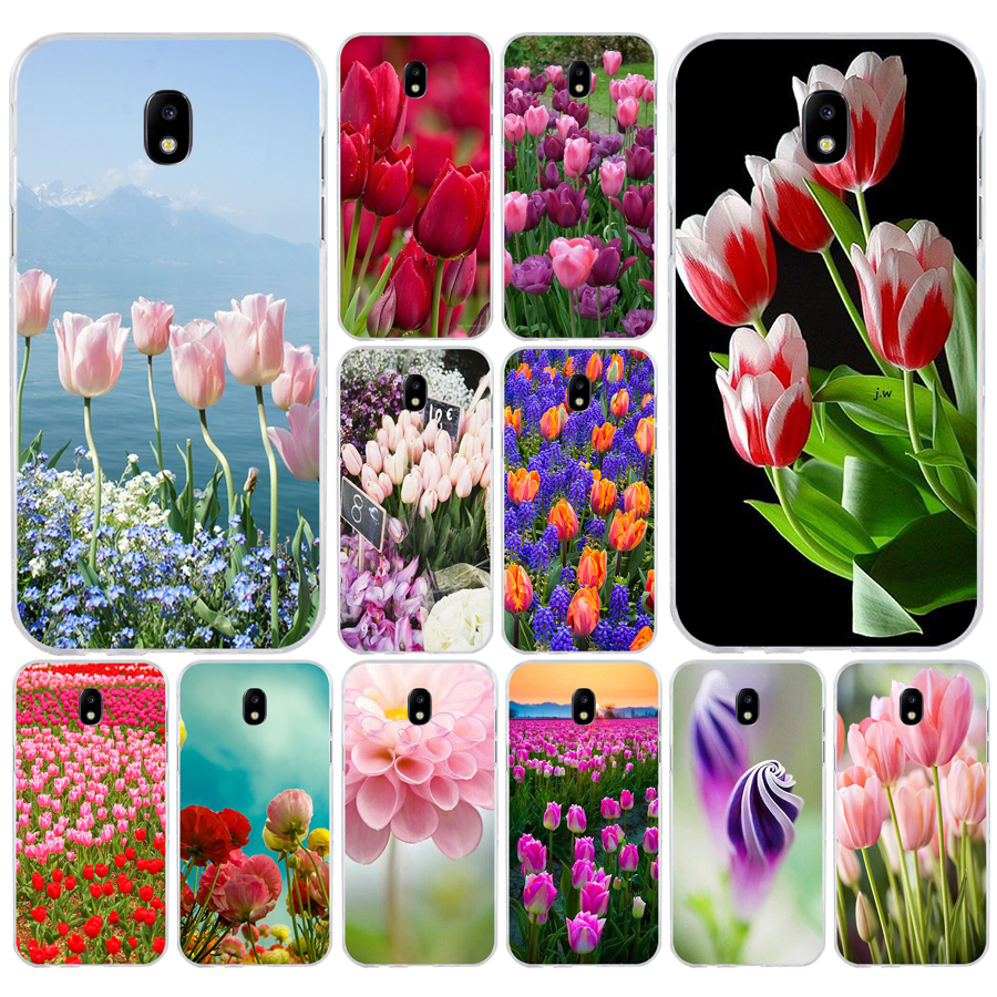 138H <font><b>Red</b></font> Blue Spring Tulips flower Soft <font><b>Silicone</b></font> Tpu Cover phone <font><b>Case</b></font> for <font><b>Samsung</b></font> j3 j5 j7 2016 <font><b>2017</b></font> a3 2016 <font><b>a5</b></font> <font><b>2017</b></font> a6 2018 image