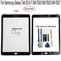 Shyueda 100% para samsung galaxy tab s3 9.7 SM-T820 SM-T825 SM-T827 exterior painel de vidro frontal digitador da tela toque