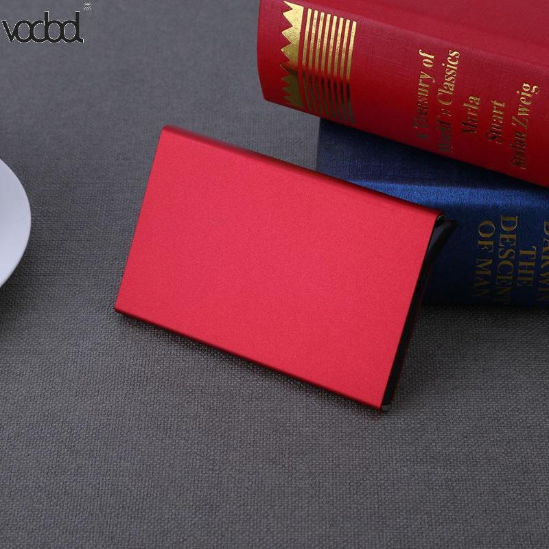 Metal Card Holder Aluminium Alloy Men Women Business Credit ID Card Storage Box Case Anti-degaussing RFID Cardholder Hot Sale