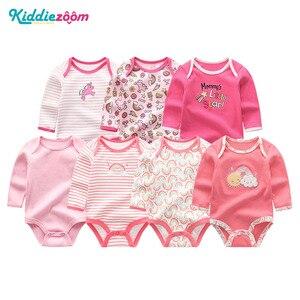 Image 3 - 7 adet/takım yenidoğan bebek kız giysileri uzun kollu erkek tulum giyim Recien bebek pijama pamuk roupas de bebe bebek Onesies