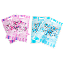 40pcs/lot Glisten Happy Birthday Gift Bag For Birth Party Plastic Loot Children Baby Shower Candy Decoration Accessory