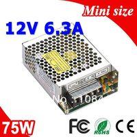 MS-75-12 75 W LED mean well Suply Moc 12 V Transformator 110 V 220 V AC do DC Wyjście 6.3A