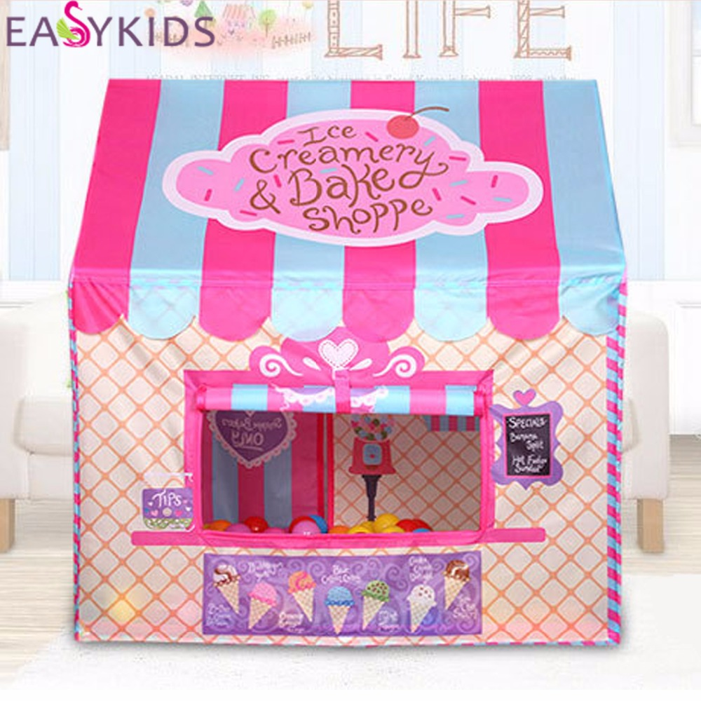 buy kids play tent foldable portable girl. Black Bedroom Furniture Sets. Home Design Ideas