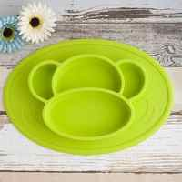 Silicone Material Baby Dining Plate Health Lovely monkey face Lunch Tableware Kitchen Fruit Dishes Children baby boy girl Bowl