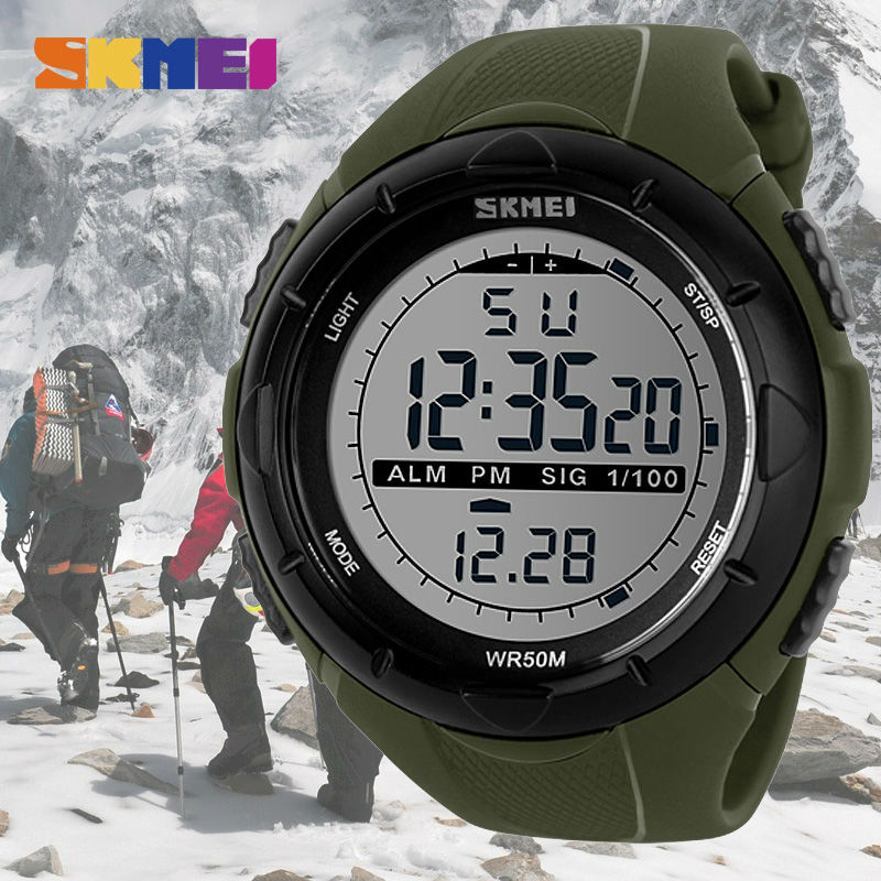 SKMEI Brand New Men LED Digital Military Watch 50M Waterproof Sports Watches Fashion Outdoor Wristwatches Relogio Masculino 1025