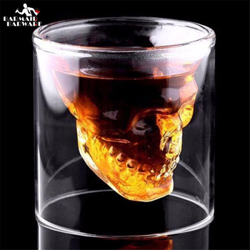 1/4/8 Pieces Shot Glass Cocktail Beer Skull Glass Whiskey Skull Head Vodka Shot Glass Drinking Ware 25/75/150/200Ml