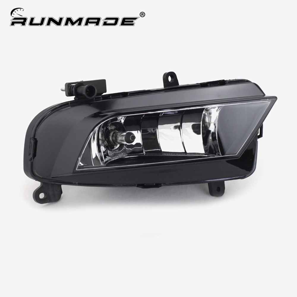 runmade Front Lower Driving Fog Light For 2012+ Audi A4 B9 Right Side With H8 35W 12V Bulbs L8KD 941 700A front lower side cooling air grille for audi a6 c6 facelifted 09 10