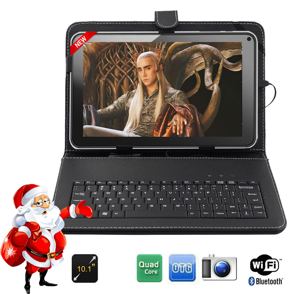 FreeShipping BoDa 16GB 10.1 inch Android 4.4 Wifi Quad core Allwinner A33 Tablet PC Keyboard Free as gift