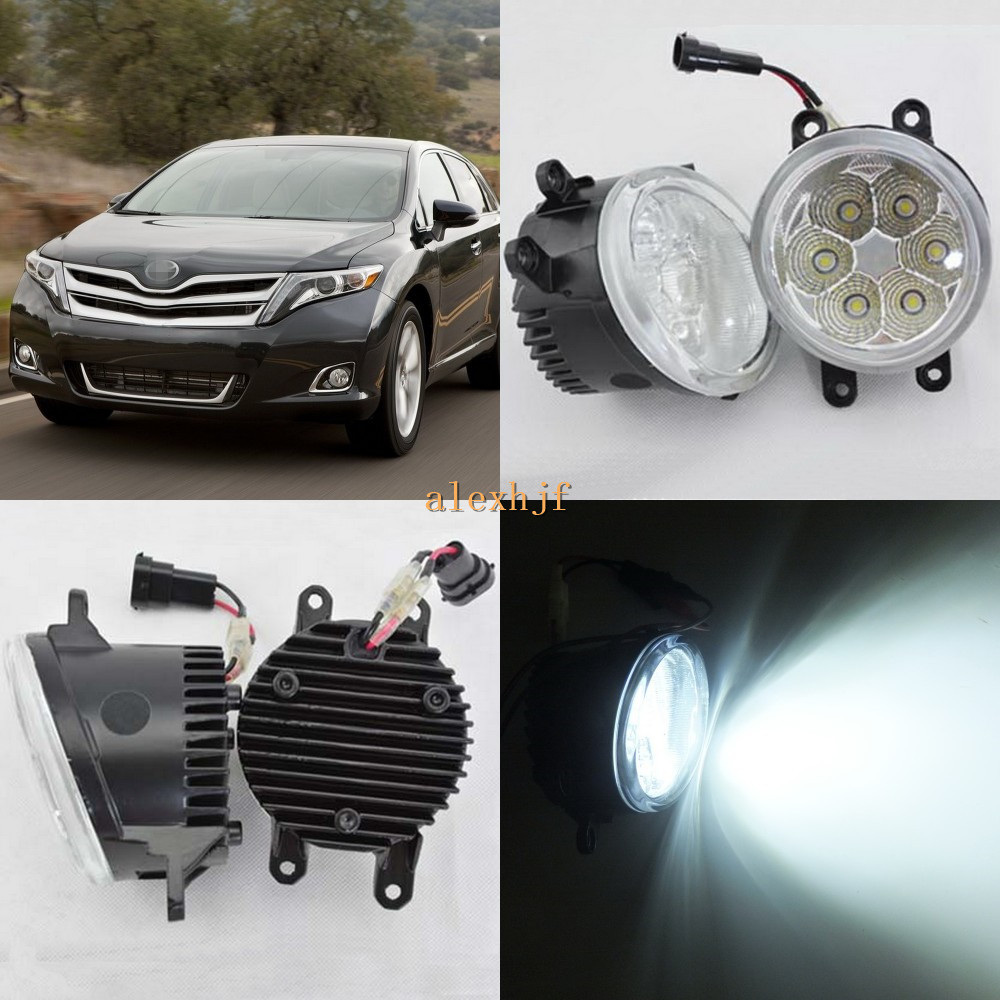 July King 18W 6500K 6LEDs LED Daytime Running Lights LED Fog Lamp Case for Toyota Venza 2009~ON ,over 1260LM/pc july king 18w 6500k 6leds led daytime running lights led fog lamp case for peugeot 107 2012 2015 over 1260lm pc
