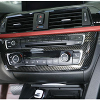 Car Styling Center Console Volume Buttons Frame Decoration Cover Trim For BMW 3 4 Series 3GT 2013 18 Carbon Fiber Style