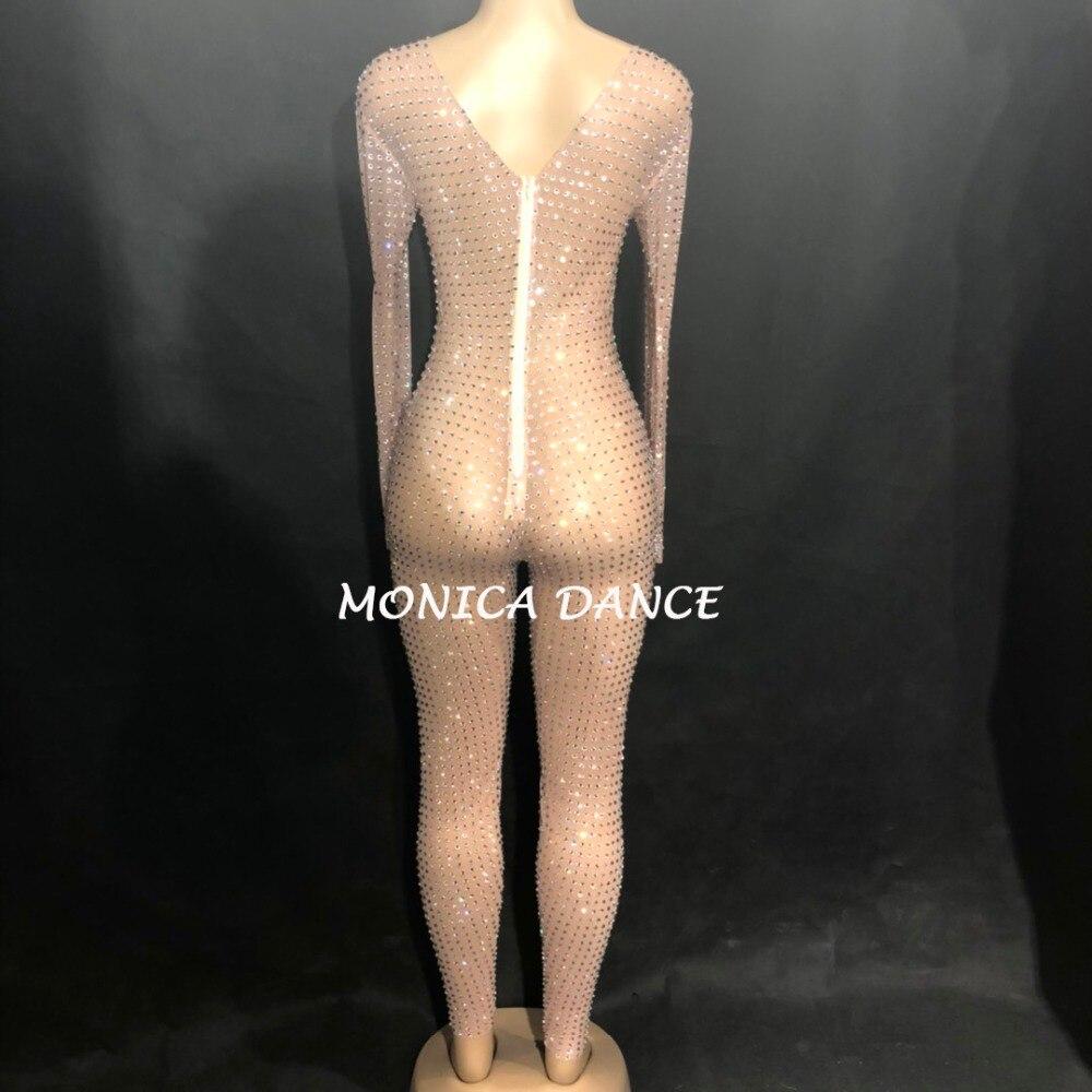 Strass Femmes Perspective Parti Chanteur Argent Danseur Salopette De Maille D'anniversaire Luxe Célébrer Jumpsuit Tenue D'étape Usage Scintillant pqw4Bqxt