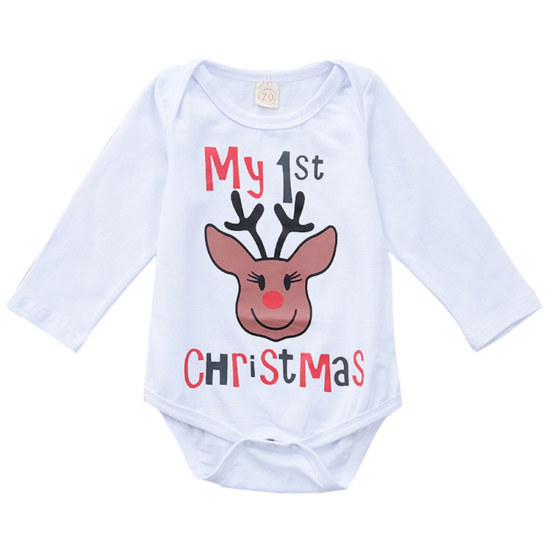 Christmas New Born Baby Romper Baby Girl Boy Long Sleeve Rompers Soft Cotton  Jumpsuit Body Suit For Borns New newborn baby rompers baby clothing 100% cotton infant jumpsuit ropa bebe long sleeve girl boys rompers costumes baby romper